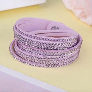 Jewelry - Purple Studded Vegan Suede Leather Wrap Br…